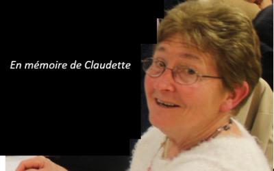 Décès de Claudette GUIBERT