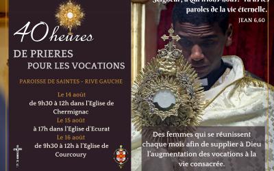 40 heures de prières pour les vocations