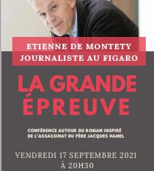 Conférence d'Etienne de Montety autour du roman inspiré par l'assassinat du père Jacques Hamel