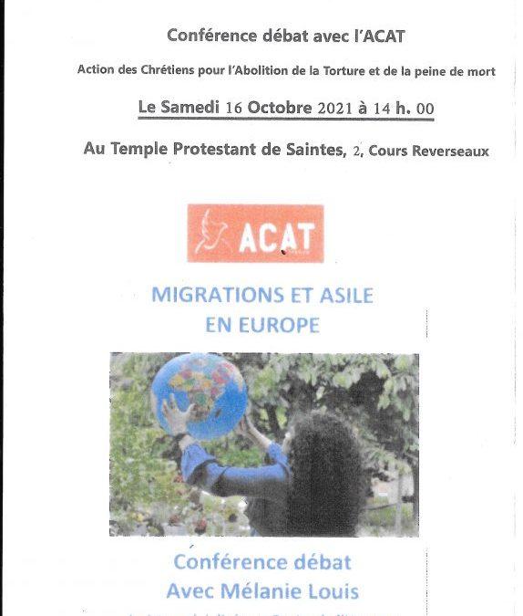 Conférence – débat avec l'ACAT