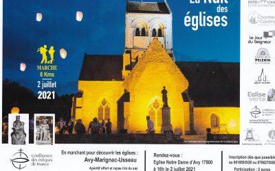La 10ème «nuit des églises» du 25 juin au 5 juillet 2021